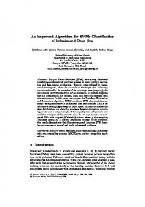 An Improved Algorithm for SVMs Classification of ... - Semantic Scholar
