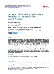 An Improved Ant Colony Optimization Algorithm for Construction Site ...