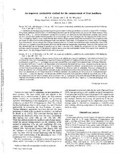 An improved conductivity method for the ...