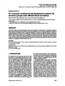 An improved conference‐key agreement protocol for dynamic groups ...