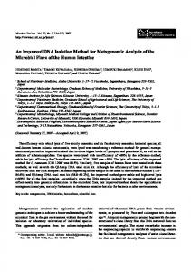 An Improved DNA Isolation Method for Metagenomic ... - J-Stage