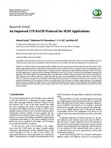 An Improved LTE RACH Protocol for M2M Applications