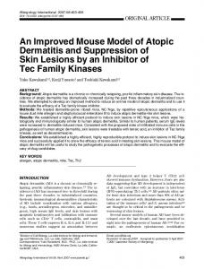 An Improved Mouse Model of Atopic Dermatitis and ... - ScienceDirect