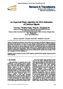 An Improved Music Algorithm for DOA Estimation of Coherent Signals