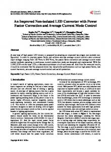 An Improved Non-isolated LED Converter with Power Factor ...