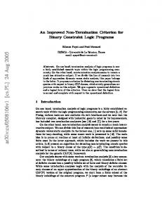 An Improved Non-Termination Criterion for Binary Constraint Logic