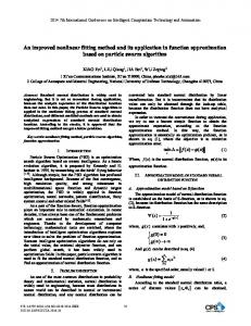 An Improved Nonlinear Fitting Method and Its Application in Function ...