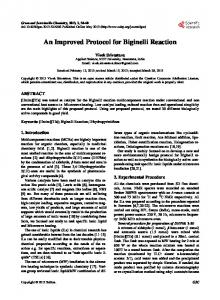 An Improved Protocol for Biginelli Reaction