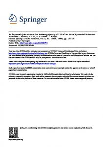 An Improved Questionnaire for Assessing Quality of Life ... - CiteSeerX
