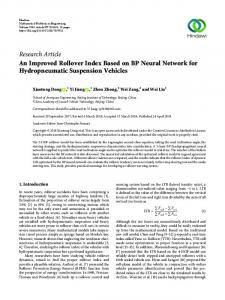 An Improved Rollover Index Based on BP Neural Network for ...
