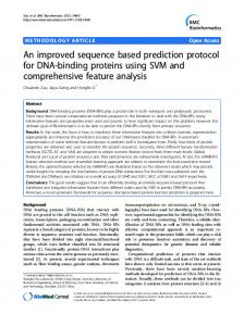 An improved sequence based prediction protocol for DNA-binding ...