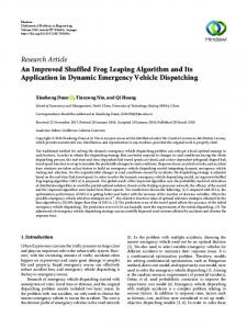An Improved Shuffled Frog Leaping Algorithm and Its Application in