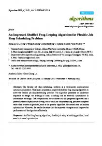 An Improved Shuffled Frog-Leaping Algorithm for ... - Semantic Scholar