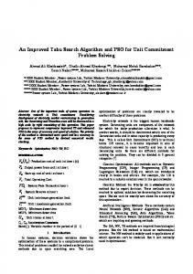 An Improved Tabu Search Algorithm and PSO for Unit Commitment