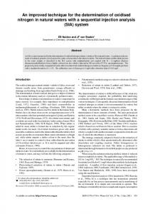 An improved technique for the determination of oxidised nitrogen in ...