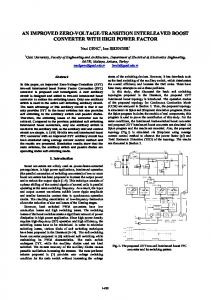 an improved zero-voltage-transition interleaved boost converter ... - emo