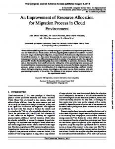 An Improvement of Resource Allocation for Migration Process in Cloud ...