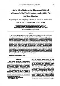 An In Vivo Study on the Biocompatibility of a Bioresorbable Poly(L ...