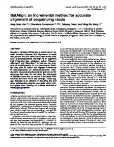 an incremental method for accurate alignment of sequencing reads