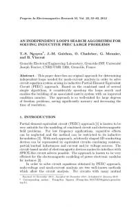 AN INDEPENDENT LOOPS SEARCH ALGORITHM FOR SOLVING ...