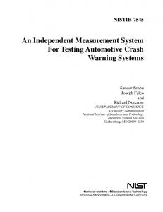 An Independent Measurement System For Testing Automotive ... - NIST