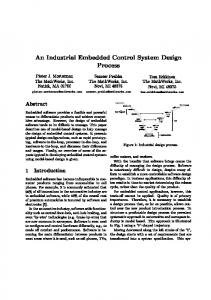 An Industrial Embedded Control System Design Process