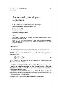 An inequality for degree sequences
