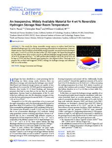 An Inexpensive, Widely Available Material for 4 wt ... - ACS Publications
