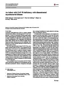 An infant with ZAP-70 deficiency with disseminated ... - Springer Link