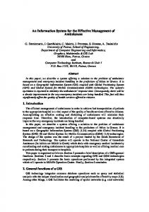An Information System for the Effective ... - Semantic Scholar