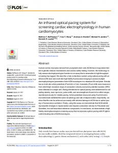 An infrared optical pacing system for screening ... - Semantic Scholar