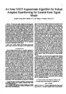 An Inner SOCP Approximate Algorithm for Robust Adaptive ... - arXiv