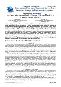An Innovative Algorithm for Energy Efficient Routing in Wireless ...