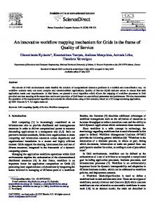 An innovative workflow mapping mechanism for ... - Semantic Scholar