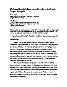 An Input- Output Analysis - Oregon State University Extension Service
