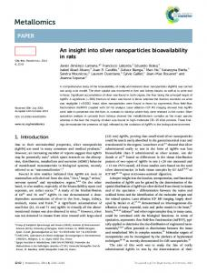 An insight into silver nanoparticles bioavailability in