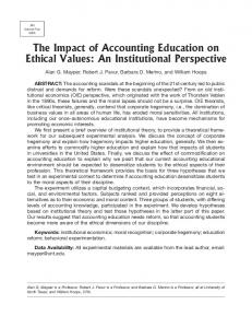 An Institutional Perspective - American Accounting Association