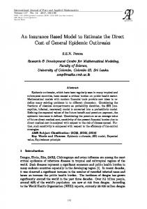An Insurance Based Model to Estimate the Direct Cost ...