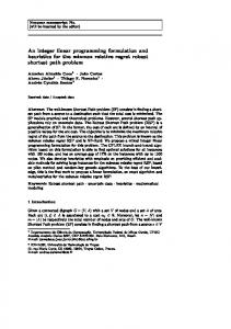 An integer linear programming formulation and ...