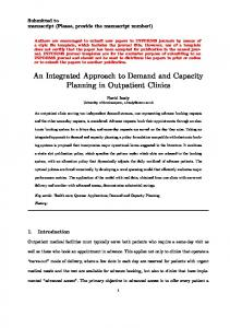 An Integrated Approach to Demand and Capacity ... - ePrints Soton