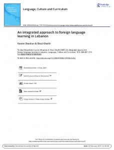 An integrated approach to foreign language