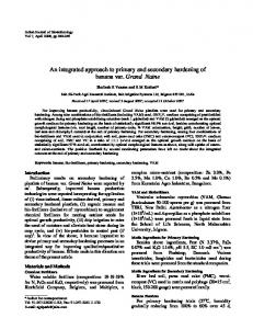 An integrated approach to primary and secondary hardening ... - NOPR