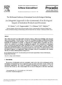 An Integrated Approach to the Assessment of an