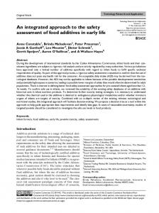 An integrated approach to the safety assessment of ... - SAGE Journals