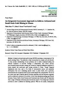 An Integrated Assessment Approach to Address Artisanal and Small ...