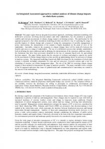 An Integrated Assessment approach to conduct analyses of climate ...