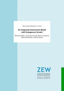 An Integrated Assessment Model with Endogenous Growth