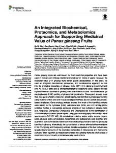 An Integrated Biochemical, Proteomics, and ... - Semantic Scholar
