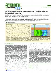 An Integrated Framework for Optimizing CO2 ... - ACS Publications
