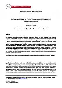 An Integrated Model for Online Transactuions - CiteSeerX